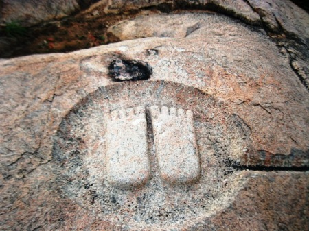 Thirumalai Foot prints of Monks