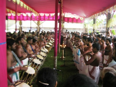 Melam in progress